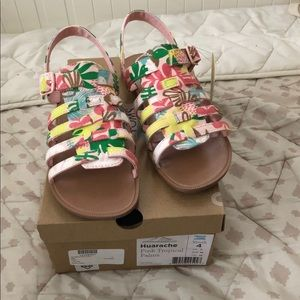 Toms Huarache Pink Tropical Palm Size 4